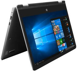EVOO 11.6 Convertible Touchscreen Laptop, Windows 10, 32GB S