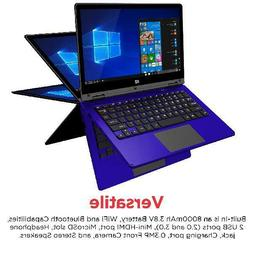 """Ematic 11.6"""" Laptop, Touchscreen, 2-in-1, Windows 10, Intel"""