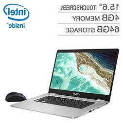 "2019 ASUS 15.6"" Touchscreen Chromebook Intel Pentinum N4200"