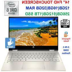 "2020 HP 14"" TouchScreen x360 Laptop Intel i5-1035G1, to 3."