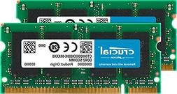 Crucial 8GB Kit  DDR2 800MHz  CL6 SODIMM 200-Pin Notebook Me
