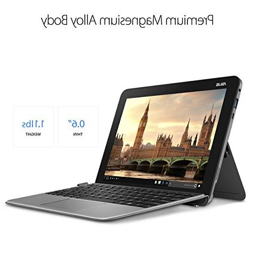 ASUS Mini T103HA-D4-GR, Touchscreen Laptop, Intel Quad-Core, 128GB SSD, Grey, and keyboard included