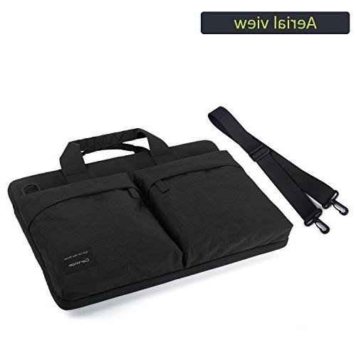 Cartinoe inch Bag, Business Water Messenger Carrying Case for Inspiron, Acer Aspire, Pavilion, Lenovo Black