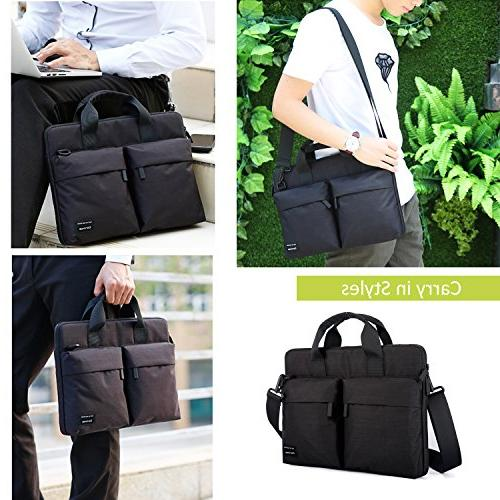 Cartinoe inch Bag, Business Briefcase Messenger for ASUS X551MA, Inspiron, Aspire, Pavilion, IdeaPad Black