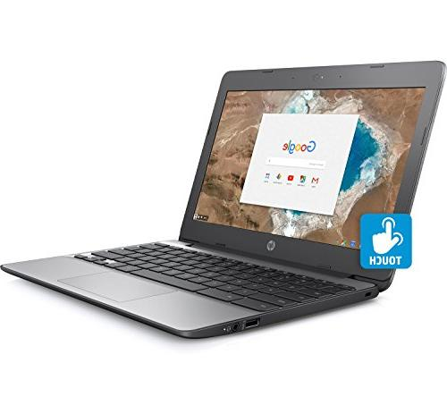 HP Chromebook HD Touch with Celeron N3060 Gray