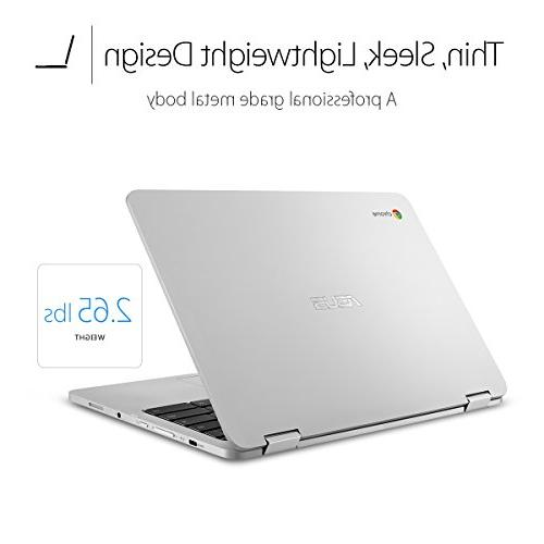 ASUS C302CA-DHM4 Chromebook Flip 12.5-inch Chromebook, Intel RAM, Flash All-Metal Body, C, Corning