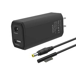 BND Microsoft Surface Pro Charger, 65W Portable Charger for