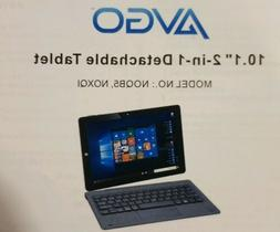 NEW! AVGO 10.1 2-in-1 detachable laptop Touch Intel  4GB 32G