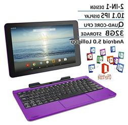 RCA Viking Pro Purple Edition 10.1 Touchscreen 2 In 1 Tablet